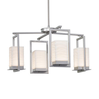 Laguna 4-Light LED Outdoor Chandelier (254|PNA-7510W-WAVE-NCKL)