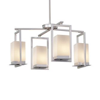 Laguna 4-Light LED Outdoor Chandelier (254|FSN-7510W-OPAL-NCKL)