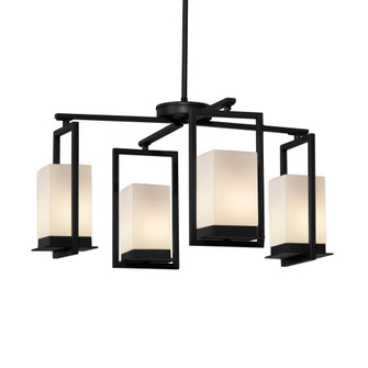 Laguna 4-Light LED Outdoor Chandelier (254|FSN-7510W-OPAL-MBLK)
