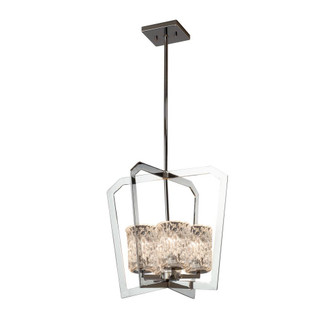 Aria 4-Light Intersecting Chandelier (254|GLA-8014-16-CLRT-CROM)
