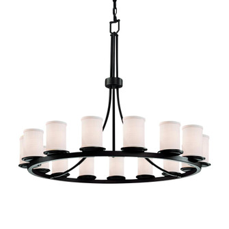 Dakota 15-Light 1-Tier Ring Chandelier (254|FAB-8715-10-WHTE-DBRZ)