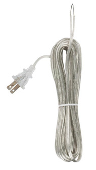 20' CLEAR SILVER CORD SET SPT- (27|90/1538)