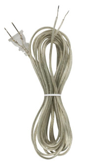 15' CLEAR SILVER CORD SET SPT- (27|90/1532)