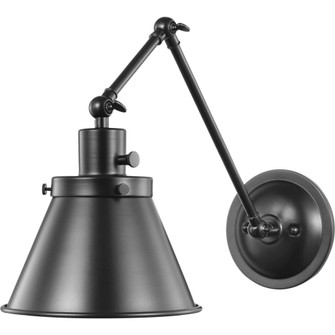 Hinton Collection Black Swing Arm Wall Light (149|P710095-031)