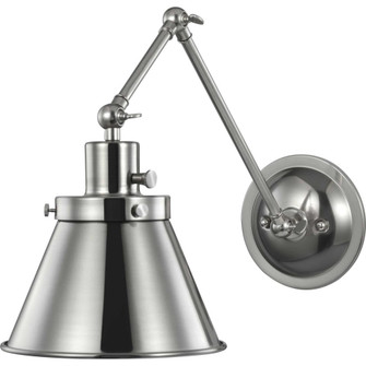 Hinton Collection Brushed Nickel Swing Arm Wall Light (149|P710095-009)