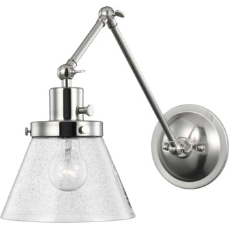 Hinton Collection Brushed Nickel Swing Arm Wall Light (149|P710094-009)