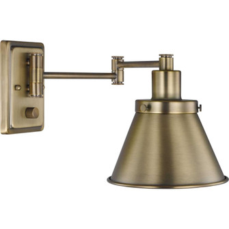 Hinton Collection Vintage Brass Swing Arm Wall Light (149|P710085-163)