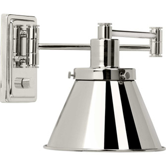 Hinton Collection Polished Nickel Swing Arm Wall Light (149|P710085-104)