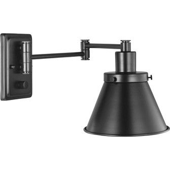 Hinton Collection Black Swing Arm Wall Light (149|P710085-031)