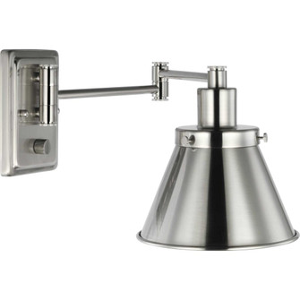 Hinton Collection Brushed Nickel Swing Arm Wall Light (149|P710085-009)