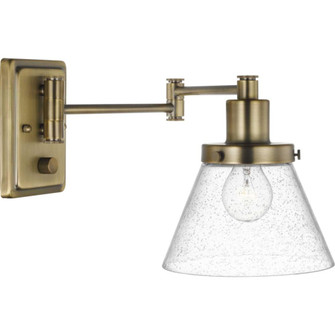 Hinton Collection Vintage Brass Swing Arm Wall Light (149|P710084-163)