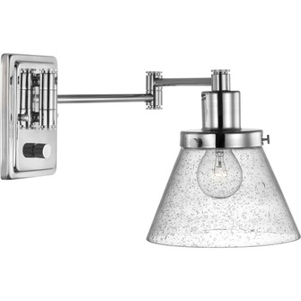 Hinton Collection Polished Nickel Swing Arm Wall Light (149|P710084-104)