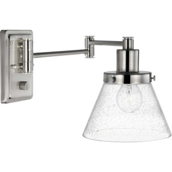 Hinton Collection Brushed Nickel Swing Arm Wall Light (149|P710084-009)