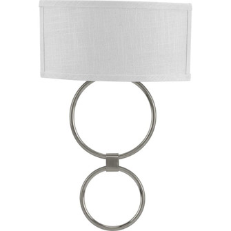 LED Shaded Sconce Collection Brushed Nickel One-Light Circle LED Wall Sconce (149|P710058-009-30)