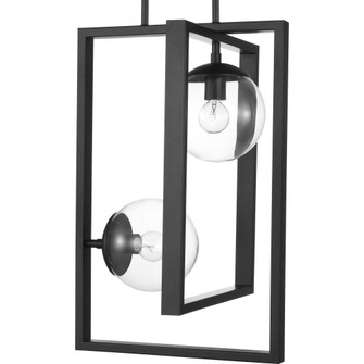 Atwell Collection Black Two-Light Pendant (149|P500284-031)
