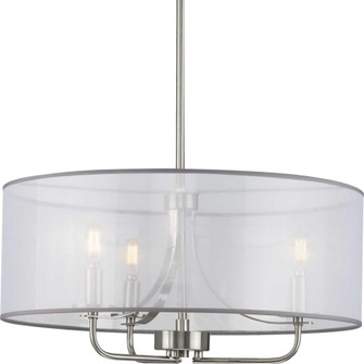 Riley Collection Brushed Nickel Three-Light Pendant (149|P500243-009)