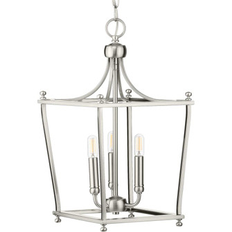 Parkhurst Collection Brushed Nickel Three-Light Foyer (P500213-009)