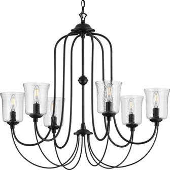 Bowman Collection Six-Light Black Chandelier (149|P400195-031)