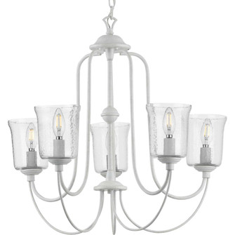 Bowman Collection Cottage White Five-Light Chandelier (149|P400194-151)