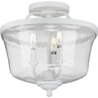 Bowman Collection Cottage White Three-Light Semi-Flush Convertible (P350148-151)