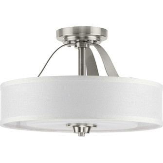 Kene Collection Brushed Nickel Two-Light Semi-Flush Convertible (149|P350098-009)