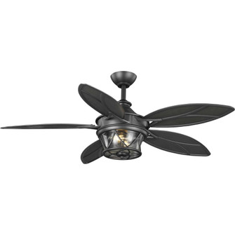 """Alfresco Collection 54"""" Indoor/Outdoor Five-Blade Blistered Iron Ceiling Fan (149