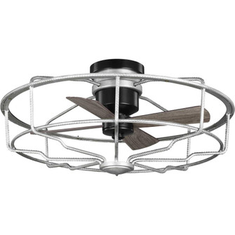 """Loring Collection 33"""" Four-Blade Galvanized Ceiling Fan (149 P250006-141)"""