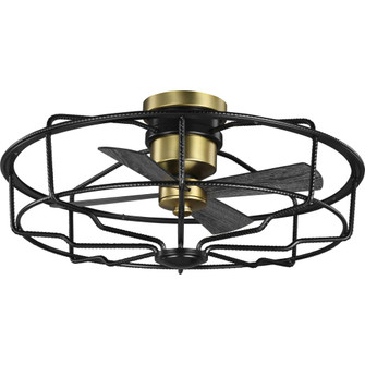 """Loring Collection 33"""" Four-Blade Black Ceiling Fan (149 P250006-031)"""