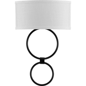 LED Shaded Sconce Collection Black One-Light Circle LED Wall Sconce (149|P710058-031-30)