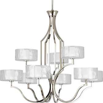 Caress Nine-Light, Two-Tier Chandelier (149|P4646-104WB)