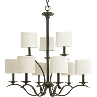 Inspire Collection Nine-Light, Two-Tier Chandelier (149 P4638-20)