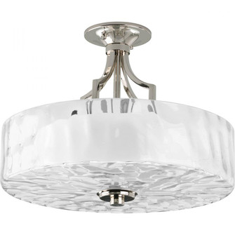"Caress Collection Two-Light 16"" Semi-Flush Mount (149