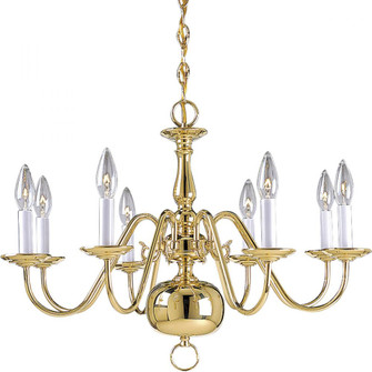 Americana Collection Eight-Light Chandelier (149|P4357-10)