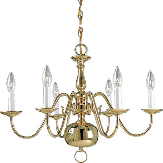 Americana Collection Six-Light Chandelier (149|P4356-10)