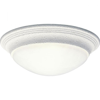 """One-Light Alabaster Glass 11-1/2"""" Close-to-Ceiling (P3688-30)"""
