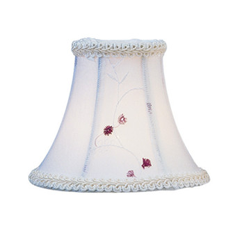 White Embroidered Floral Silk Bell Clip Shade (108|S221)