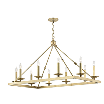 10 LIGHT CHANDELIER (57|3244-AGB)