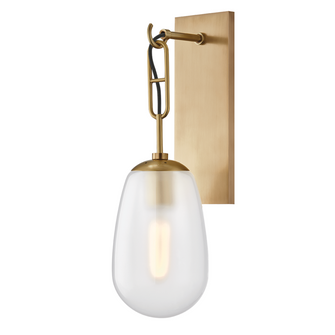 1 LIGHT WALL SCONCE (57 2101-AGB)