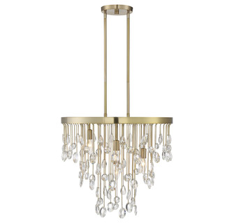Livorno Noble Brass 4 Light Chandelier (128|1-1846-4-127)