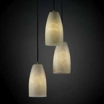 Small 3-Light Cluster Pendant (CLD-8864-28-MBLK)