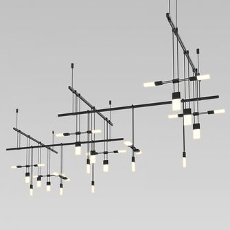 36'' 5-Bar Zig Zag with Etched Chiclet Luminaire Combo (107|S1K36K-JR180612-SC02)
