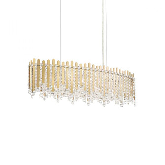 Chatter 12 Light Contemporary Pendant in Gold Mirror with Clear Crystals From Swarovski (168|MX8340N-301S)