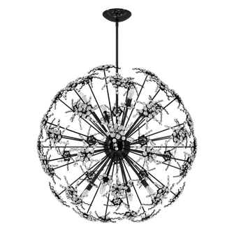 Esteracae 8 Light Transitional Pendant in Jet Black with Clear Crystals From Swarovski (168 DN1036N-55S)
