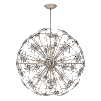 Esteracae 8 Light Transitional Pendant in Antique Silver with Clear Crystals From Swarovski (168 DN1036N-48S)