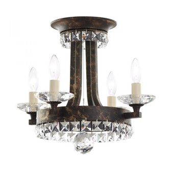 Early American 4 Light Transitional Semi-flush in Heirloom Bronze with Clear Crystals From Swarovski (168|ER1201N-76S)