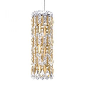 Sarella 3 Light Traditional Pendant in Heirloom Gold with Clear Crystals From Swarovski (168 RS8341N-22S)