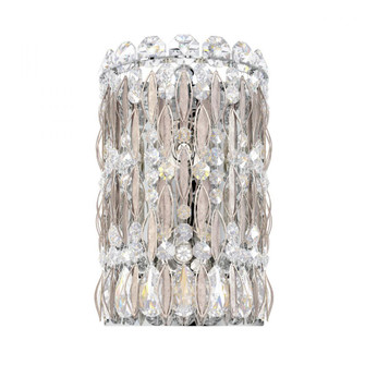 Sarella 2 Light Traditional Sconce in Antique Silver with Clear Crystals From Swarovski (168|RS8333N-48S)