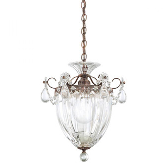 Bagatelle 1 Light Traditional Pendant in Heirloom Bronze with Clear Crystals From Swarovski (168 1241-76S)