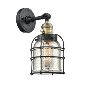 Small Bell Cage 1 Light Sconce (3442 203SW-BAB-G58-CE-LED)