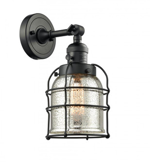 Small Bell Cage 1 Light Sconce (3442 203SW-BK-G58-CE-LED)